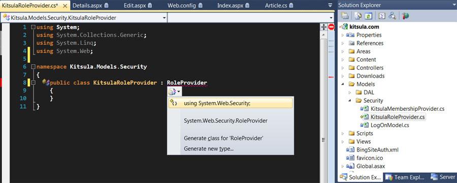 Custom Role Provider for MVC
